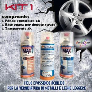 KIT 1 RITOCCO AUTO PROFESSIONALE EPOSSIDICO ACRILICO